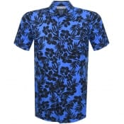 Product Image for BOSS Casual Short Sleeved Rash Shirt Blue